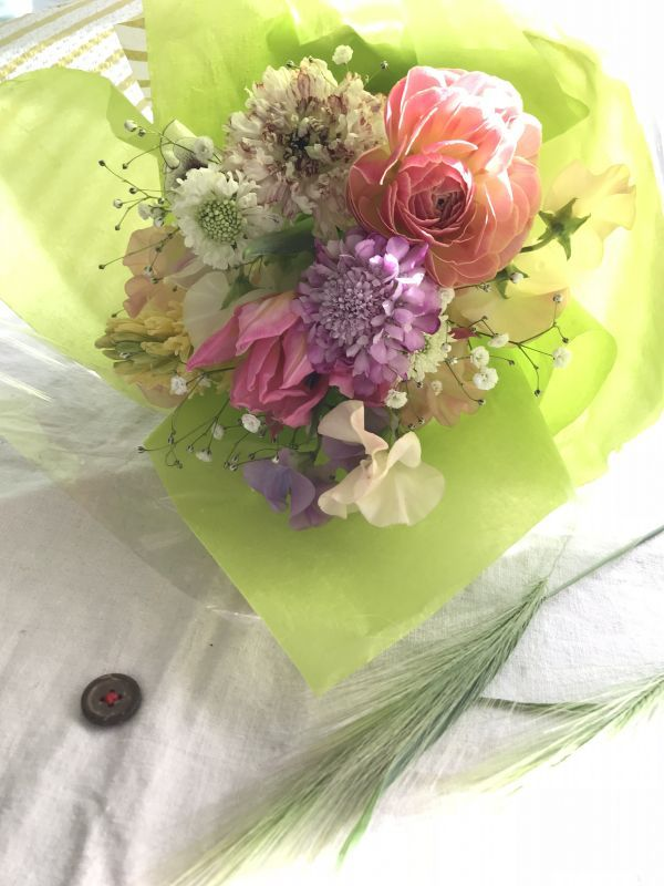Lesson〜春のお花のふんわりブーケ〜