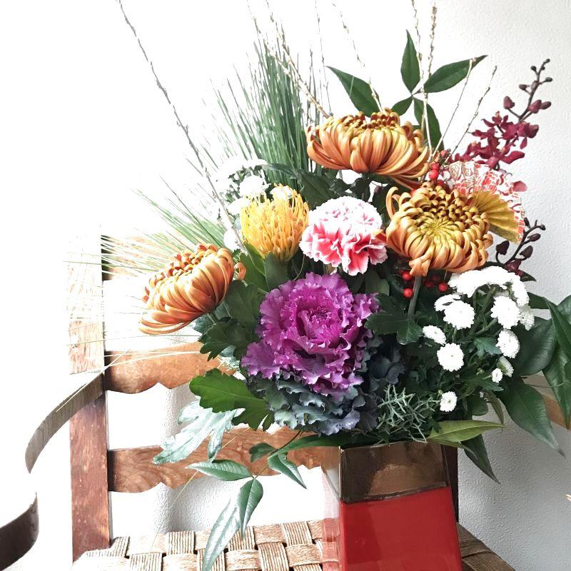 お正月のお花、お届け致します